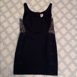 Black Dress Lace Sides